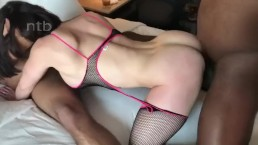 Double Creampie Sloppy Seconds Cumlube Slutwife Being Used By Two BBC Bulls