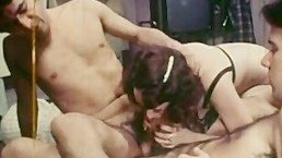 Retro Double Barrel Blowjob Friendly Fire Cumshot Frottage MFM Threesome