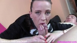 Almost-Bi Double Barrel Handjob and Blowjob MFM Last Guy Gets Cumlube Handjob